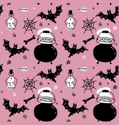 halloween seamless pattern for girls endless vector image