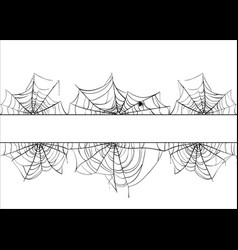halloween spiderweb border cobweb frame vector image