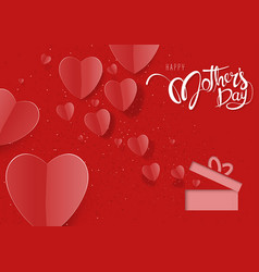 happy mothers day red greeting card vector image