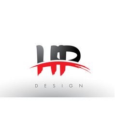 hp h p brush logo letters with red and black vector image