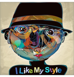 i like my style vector image
