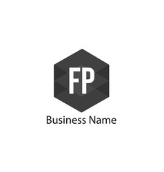Initial letter fp logo template design vector