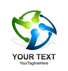 initial letter v rotate logo design template vector image