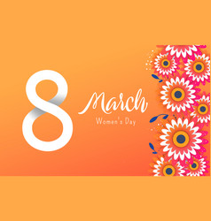 international womens day sale banner vector image