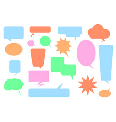 Isolated colorful big speech bubbles set vector