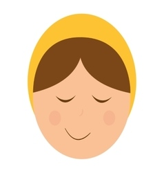 Jesus christ baby manger character vector