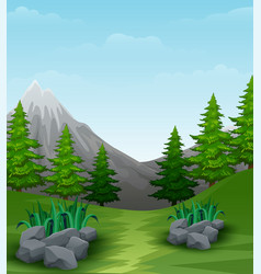Landscape background with mountains vector