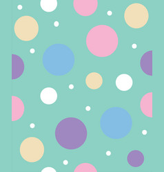 light green abstract background with polka dots vector image