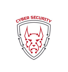 Logo cyber security security agency sign shield vector