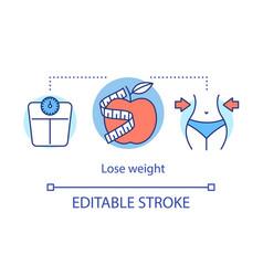 lose weight healthy nutrition concept icon vector image