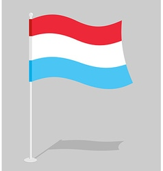 Luxembourg flag Official national sign of Grand vector image