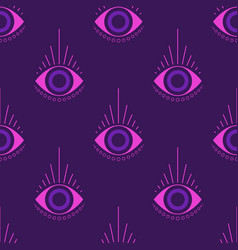 Magic witchcraft seamless pattern with occult eye vector