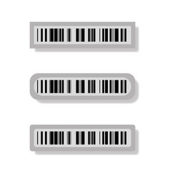 magnetic bar codes for goods vector image