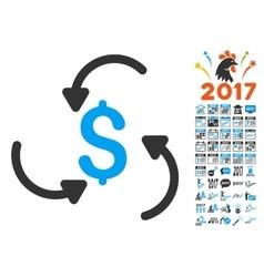 Money Swirl Icon With 2017 Year Bonus Pictograms vector