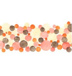 peach tone circle and dots color watercolor vector image