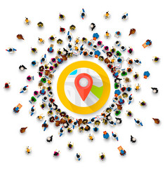 people surround location point collection vector image