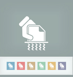 shredder icon vector image