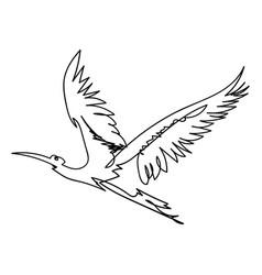 single line bbird vector image