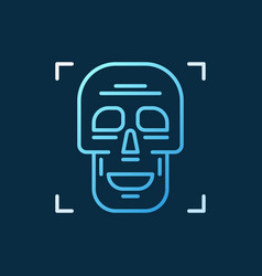 skull outline concept colorful icon on dark vector image