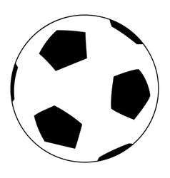 soccer ball the black color icon vector image vector image