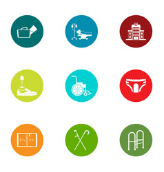 therapist icons set flat style vector image