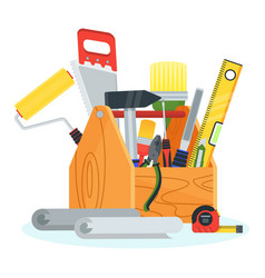 tools for repair in tollbox vector image