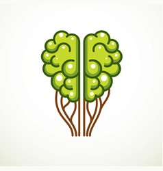 tree brain concept the wisdom of nature vector image