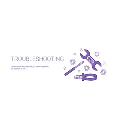 Troubleshooting service concept template web vector