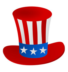 uncle sams hat 4th july celebration icon vector image