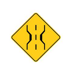 usa traffic road signnarrow bridge warning vector image