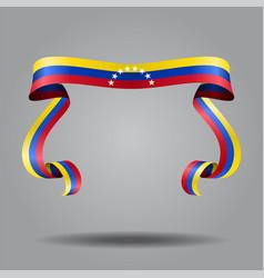 venezuelan flag wavy ribon background vector image