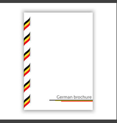 White brochure with ribbon in german tricolor vector