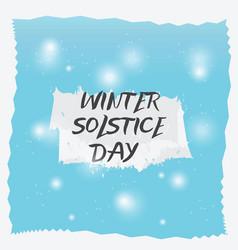 Winter solstice day background vector