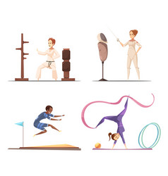 women do sports collection vector image