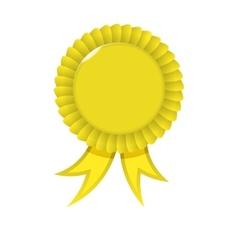 Award yellow Ribbon vector image