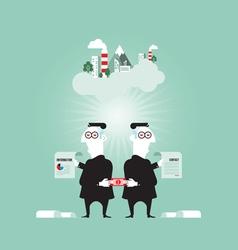 Business corruption concept vector
