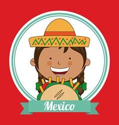mexican kid vector image vector image