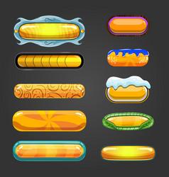 Set of orange button for game design vector image vector image