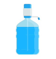 big bottle with water vector image