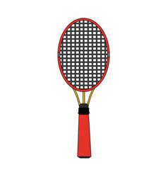 colorful image cartoon tennis racquet with handle vector image