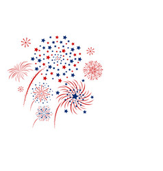 firework design isolated on white background vector image vector image