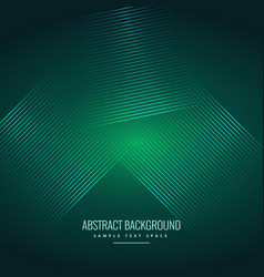 Green background with abstract shiny lines vector