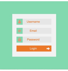 login interface - username and password vector image vector image