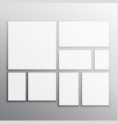 set of white mockup cards vector image vector image