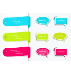 speech bubbles and label vector image
