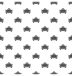 Taxi car pattern simple style vector