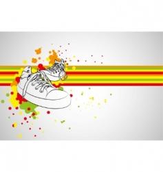 vector sneakers vector image vector image