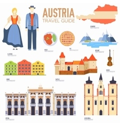 Country Austria travel vacation guide of goods vector image