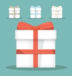 Flat Design Gift Boxes Set vector image vector image