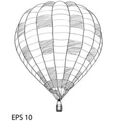 hot air balloon sketch up line eps 10 vector image